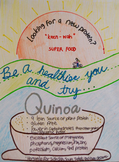 Glimpse Into A Classroom – Grade 7: Healthy Eating Posters   Wesley